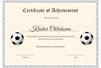 Football Certificate Template 6