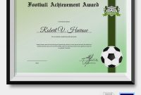 Football Certificate Template 8