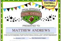 Football Certificate Template 9