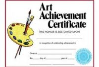 Free Art Certificate Templates 10