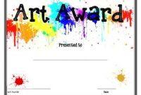 Free Art Certificate Templates 2