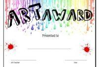 Free Art Certificate Templates 5