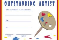 Free Art Certificate Templates 6