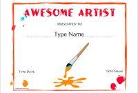 Free Art Certificate Templates 7