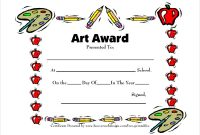 Free Art Certificate Templates 8