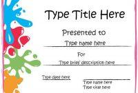 Free Art Certificate Templates 9