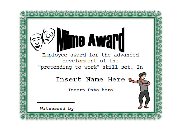 Free Funny Certificate Templates For Word 12