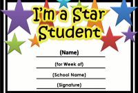 Free Printable Student Of the Month Certificate Templates 5