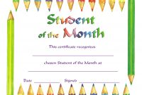 Free Printable Student Of the Month Certificate Templates 7