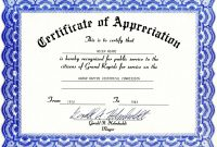 Free Template for Certificate Of Recognition 2