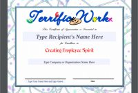 Free Template for Certificate Of Recognition 3