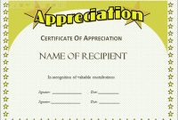 Free Template for Certificate Of Recognition 5
