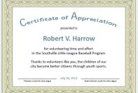 Free Template for Certificate Of Recognition 7