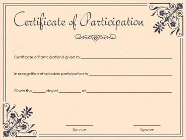 Free Templates For Certificates Of Participation 11