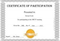 Free Templates for Certificates Of Participation 8