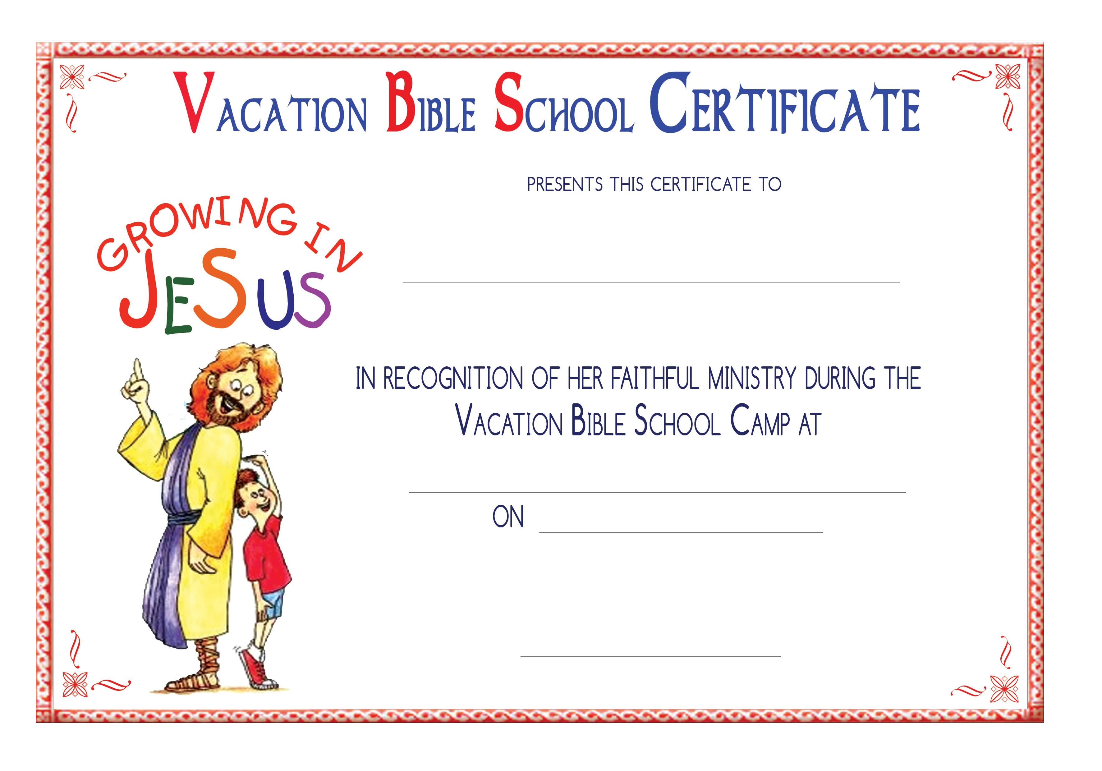 Free Vbs Certificate Templates 2