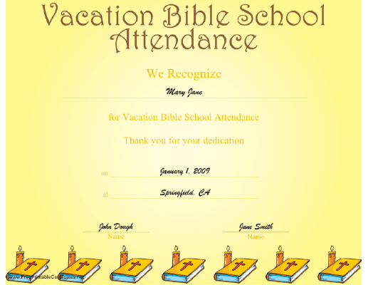 Free Vbs Certificate Templates 7