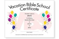 Free Vbs Certificate Templates 9