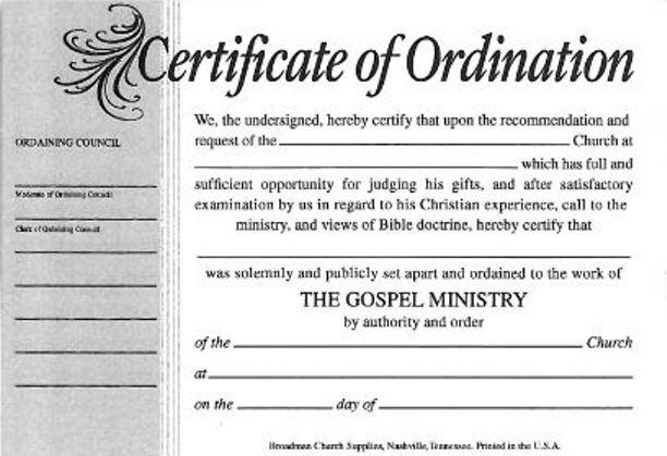Free Ordination Certificate Template 12