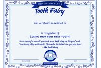 Free tooth Fairy Certificate Template 4