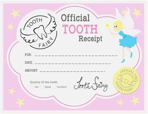 Free Tooth Fairy Certificate Template 7
