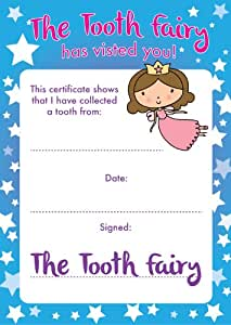 Free Tooth Fairy Certificate Template 9