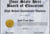 Ged Certificate Template 3