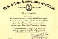 Ged Certificate Template 4