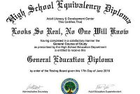Ged Certificate Template 6
