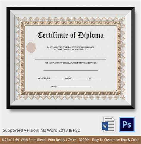 Ged Certificate Template 7