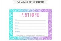 Gift Certificate Template Photoshop 10