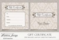 Gift Certificate Template Photoshop 11