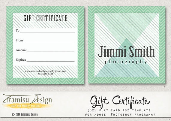 Gift Certificate Template Photoshop 13