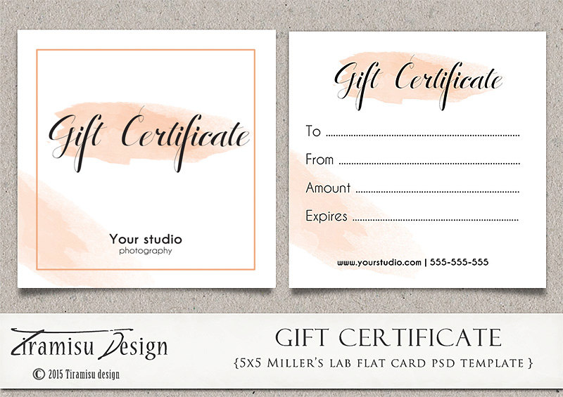 Gift Certificate Template Photoshop 2