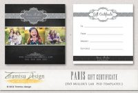 Gift Certificate Template Photoshop 3