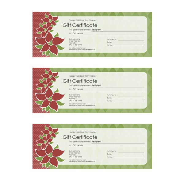 Gift Certificate Template Photoshop 5