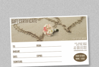 Gift Certificate Template Photoshop 6