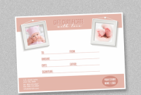 Gift Certificate Template Photoshop 8