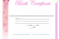 Girl Birth Certificate Template 6