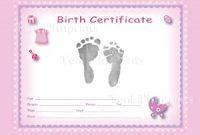 Girl Birth Certificate Template 9