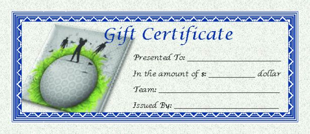 Golf Gift Certificate Template 10