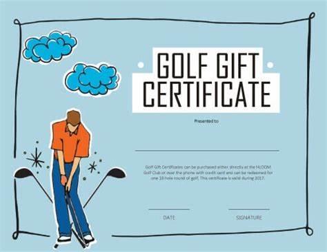 Golf Gift Certificate Template 4