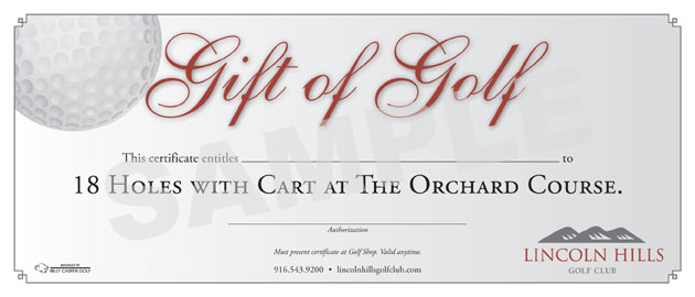 Golf Gift Certificate Template 8