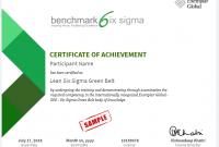 Green Belt Certificate Template 4