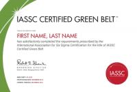 Green Belt Certificate Template 5