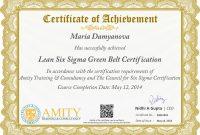 Green Belt Certificate Template 8