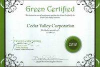 Green Belt Certificate Template 9