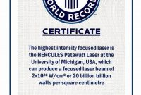 Guinness World Record Certificate Template 2