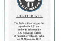 Guinness World Record Certificate Template 3