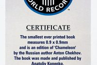 Guinness World Record Certificate Template 5